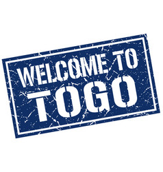welcome to togo stamp vector image