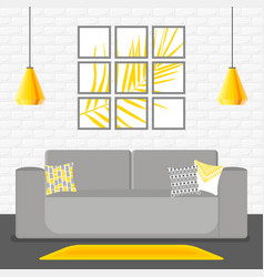 With living room vector