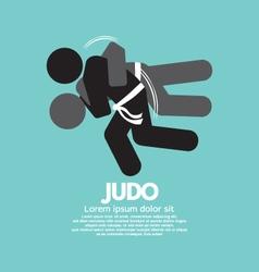 Black Symbol Judo Fighter vector image vector image