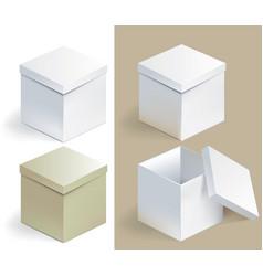 empty sqare box vector image