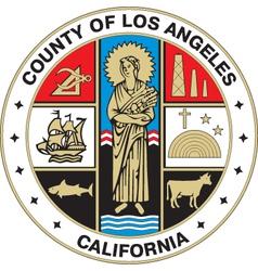 Los Angeles County Seal vector image vector image