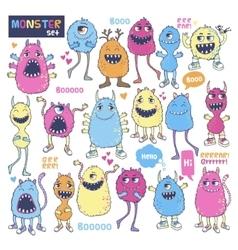 Monster set vector image vector image