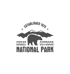 National park old style badge Mountain explorer vector image vector image