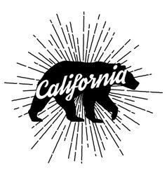 Retro california logo vector image vector image