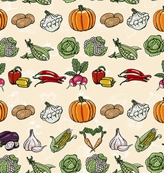 Seamless horizontal pattern with colored vector image vector image