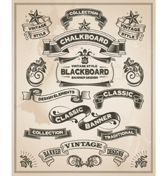 Vintage hand drawn calligraphic banner designs vector image vector image