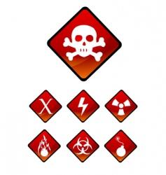 warning sign icons vector image
