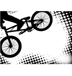 bmx background vector image vector image
