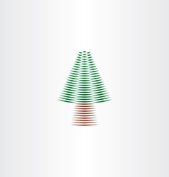 christmas tree design element icon vector image