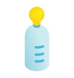 Feeding bottle isometric 3d icon vector image