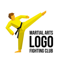 logo template for martial arts club or gym vector image