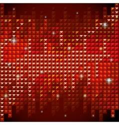 Shiny rhinestone red mosaic background vector image