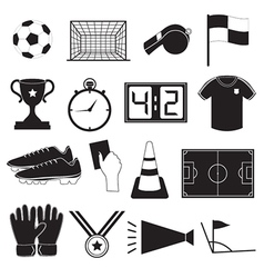 Soccer or Football Icons Set vector image