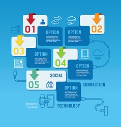 Technology infographics design options banner vector image vector image