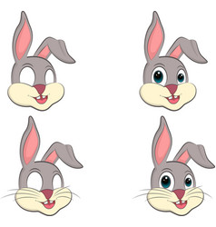 a cartoon bunny s head vector image