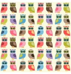 background with colorful owls and owlets vector image vector image