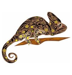 chameleon brown vector image vector image