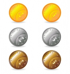 coins set vector image vector image
