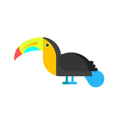 flat style of toucan vector image