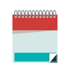 silhouette with notebook spiral with sheets vector image vector image