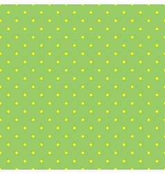 Tile pattern with small yellow polka dots on green vector image vector image