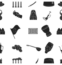 Turkey pattern icons in black style big vector