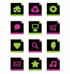 black icon set vector image vector image