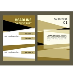 Brochure Flyer design template in A4 size Abstract vector image
