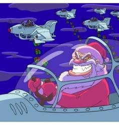 Christmas gift bombing vector image