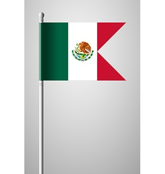 Flag of Mexico National Flag on Flagpole vector image