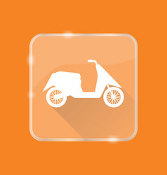 Flat style moto scooter silhouette icon vector