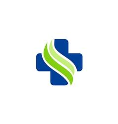 medic cross sign hospital logo vector image vector image