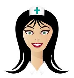 Pretty nurse face vector image vector image
