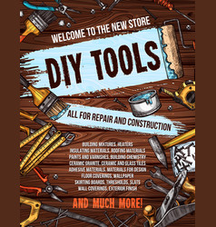 repair tool on wooden background banner design vector image