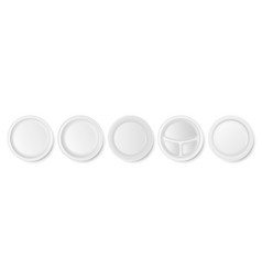 3d realistic white porcelain plastic vector