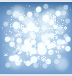 abstract background winter red snowflakes vector image