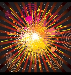 Abstract explode vector