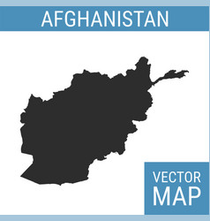 Afghanistan map with title vector