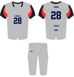 American football jersey and shorts uniforms vector
