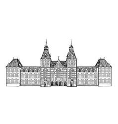 amsterdam city landmark travel sign netherlands vector image
