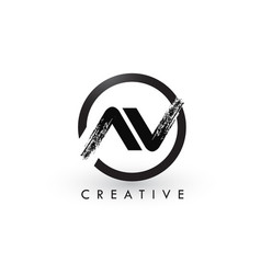 av brush letter logo design creative brushed vector image