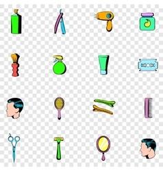 Barber shop set icons vector image