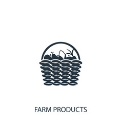Basket with fruits and vegetables icon simple vector