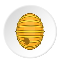 Beehive icon cartoon style vector image