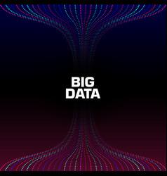 big data visualization wavy strems data units vector image