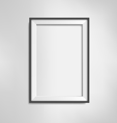 Black frame on grayscale background vector image