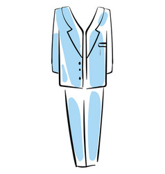 blue man suit on white background vector image