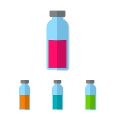Bottle with colored liquid vector image