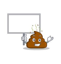 Bring board poop emoticon character cartoon vector