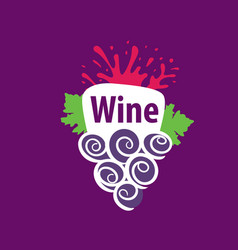 Bunch of grapes for wine logo vector